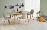 Jedálenský stôl Ontario - rozkladací 150/190x90x76 (šedá mat/dub)