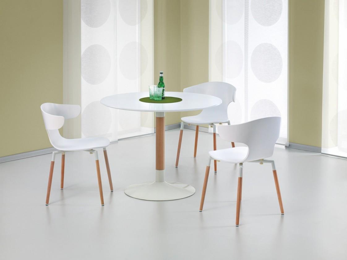 Jedálenský stôl Osvaldo  - jedálenský stôl (biela/masiv)