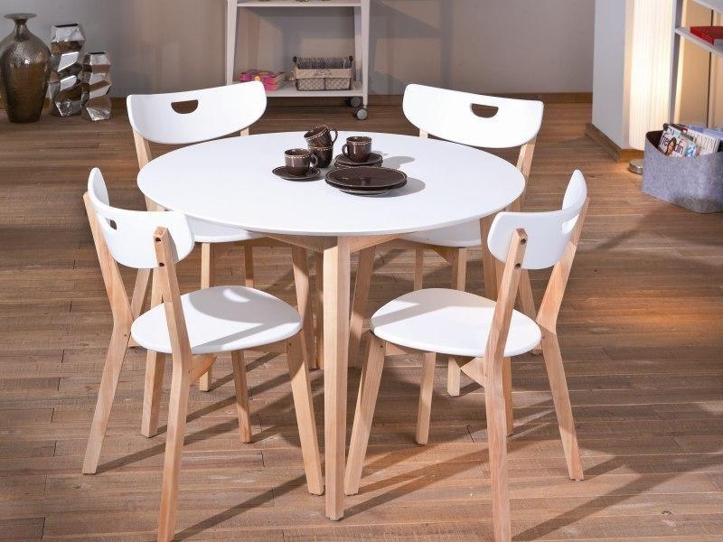 Jedálenský stôl Peppita  (biela,masiv)