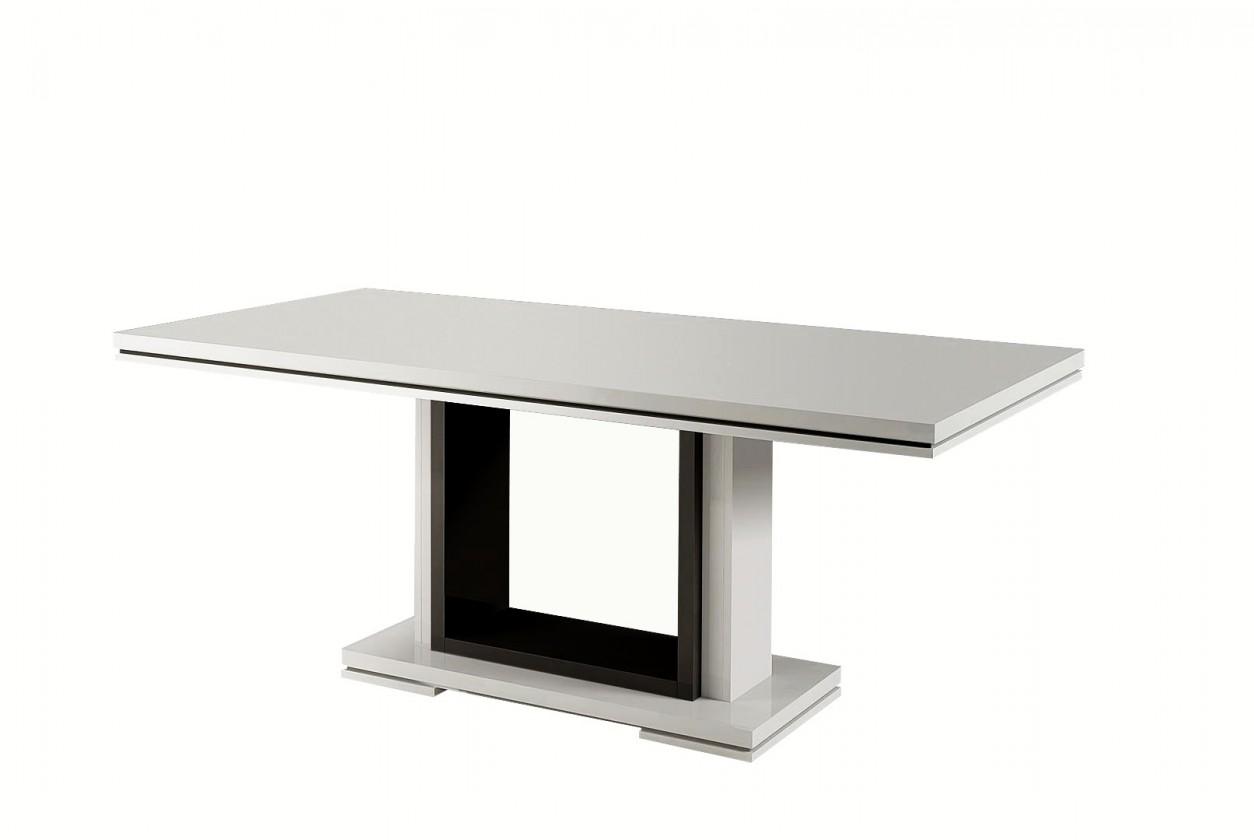 Jedálenský stôl Rimini - Jedálenský stôl 160 cm (čierna/biela)