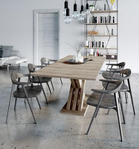 Jedálenský stôl rozkladací Ettore (dub sonoma)