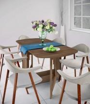 Jedálenský stôl rozkladací Jannick (orech admiral)