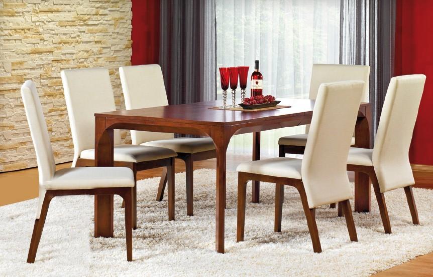 Jedálenský stôl Santiago - Jedálenský stôl (MDF s prírodnou dyhou/čerešňa)