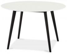 Jedálenský stôl Sens (kruh, biela, čierna)