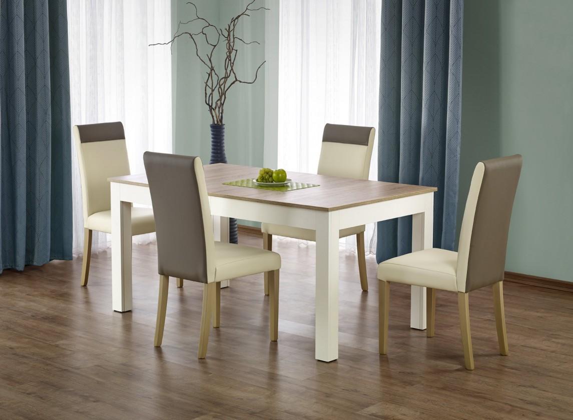 Jedálenský stôl Seweryn - Jedálenský stôl 160-300x90 cm (dub sonoma, biela)