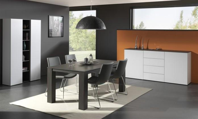 Jedálenský stôl Strada C071 (eben perletově sivá)