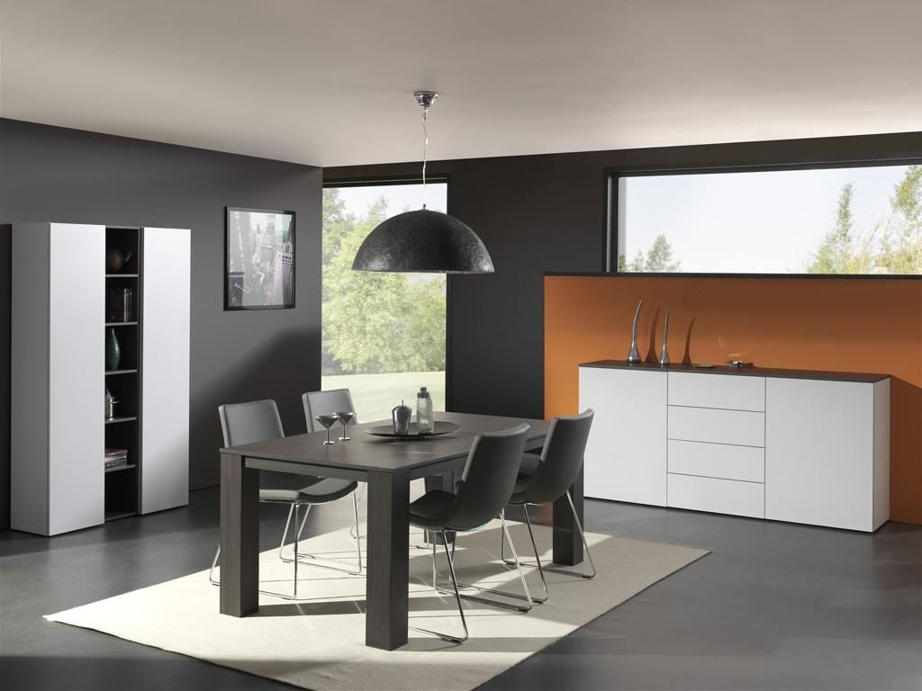 Jedálenský stôl Strada C072 (eben perletově sivá)