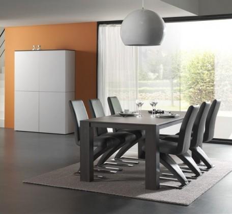 Jedálenský stôl Strada C073 (eben perletově sivá)