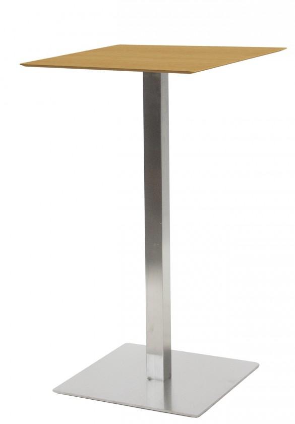 Jedálenský stôl T-BAR - 60/105/60 (nerez, dýhované MDF dub)