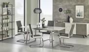 Jedálenský stôl Thomas - 160-200x90x75 cm (bílá/beton)
