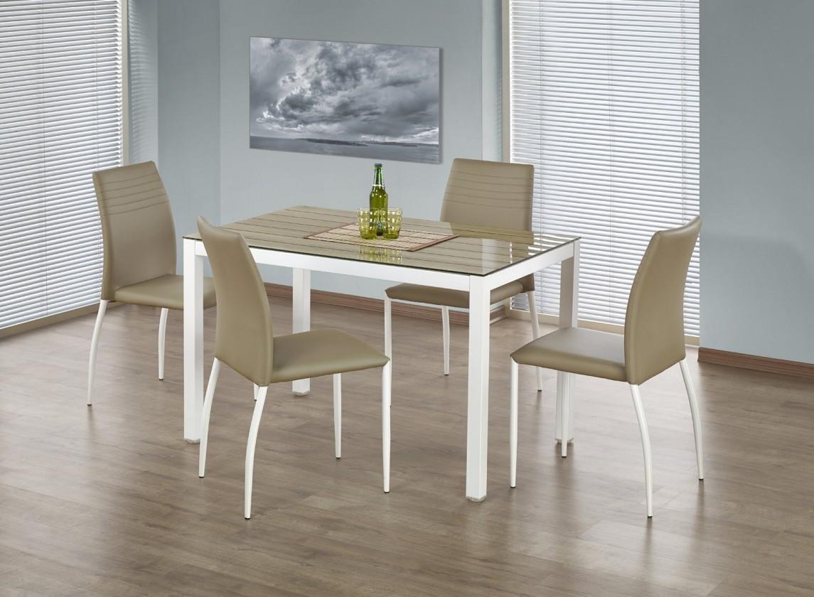 Jedálenský stôl Timber - Jedálenský stôl 120x75 cm (dub sonoma, biela)