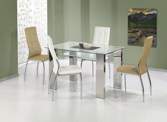 Jedálenský stôl Topaz - Jedálenský stôl 120x80 cm (oceľ, číre sklo)