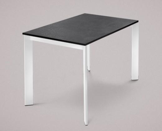 Jedálenský stôl Universe-110 (biele - nohy, lamino bridlice - doska)