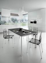Jedálenský stôl Universe 110 (sivá bridlica/hliník) - II. akosť