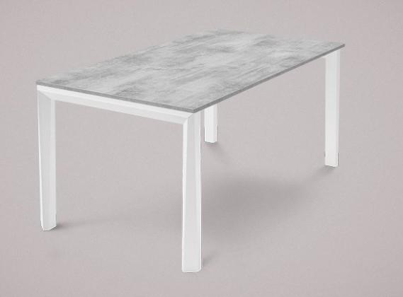 Jedálenský stôl Universe-130 (biela mat štruktúra-nohy,lamino cement-doska)