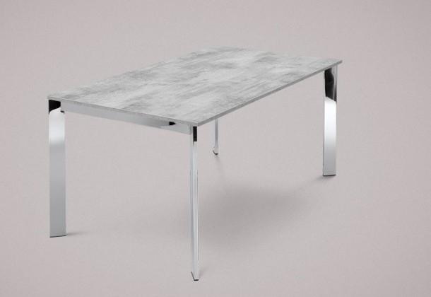 Jedálenský stôl Universe-130 (chróm - nohy, lamino cement - doska)