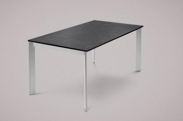 Jedálenský stôl Universe-130 (hliník - nohy, lamino bridlice - doska)