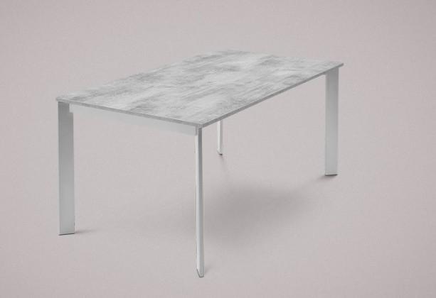 Jedálenský stôl Universe-130 (hliník - nohy, lamino cement - doska)