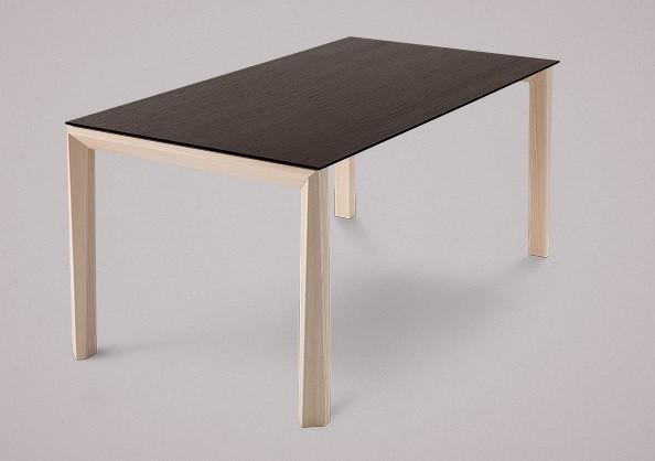 Jedálenský stôl Universe-130 (jaseň - nohy, wenge - doska)