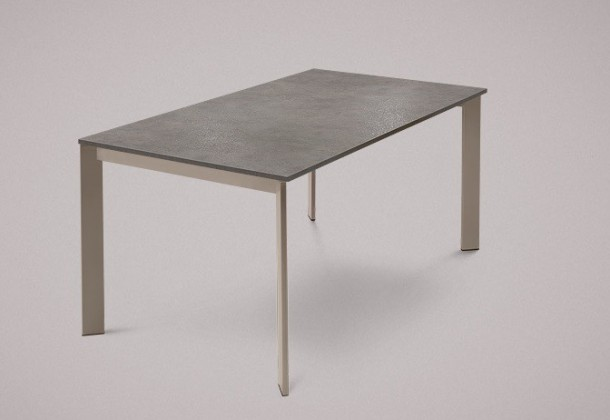 Jedálenský stôl Universe-130 (lak matný sivobéžový,lamino kameň sivobéžový)