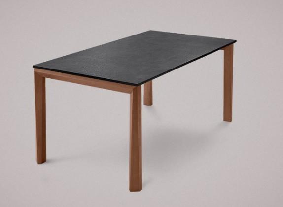 Jedálenský stôl Universe-130 (orech - nohy, lamino bridlice - doska)