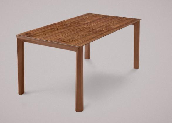 Jedálenský stôl Universe-130 (orech - nohy, orech - doska)