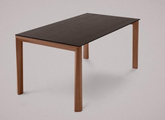 Jedálenský stôl Universe-130 (orech - nohy, wenge - doska)