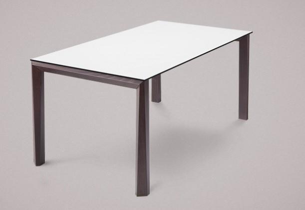 Jedálenský stôl Universe-130 (wenge - nohy, lamino biela - doska)