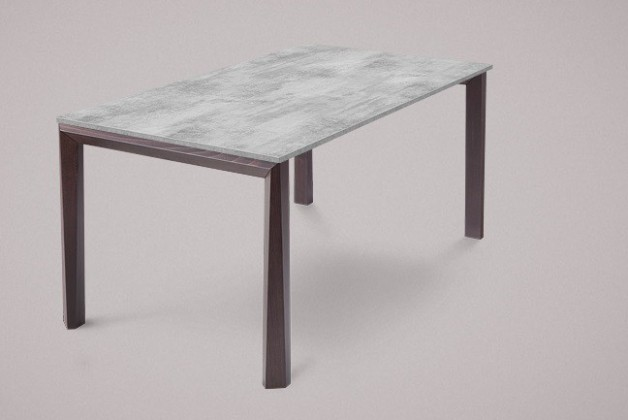 Jedálenský stôl Universe-130 (wenge - nohy, lamino cement - doska)