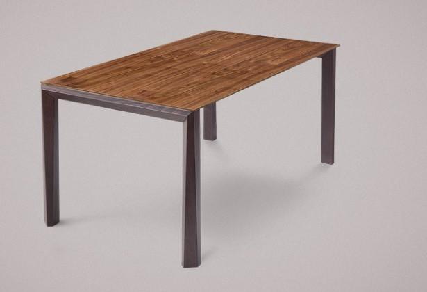 Jedálenský stôl Universe-130 (wenge - nohy, orech - doska)