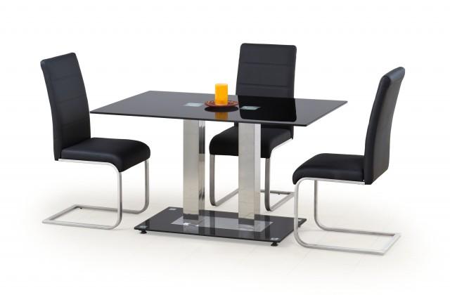 Jedálenský stôl Walter 2 (sklo - čierna)