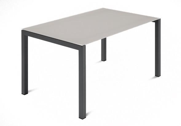Jedálenský stôl Web - 120 cm (kostra ocel antracit/deska leptané sklo šedé)