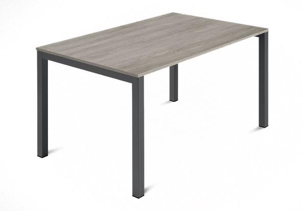 Jedálenský stôl Web - 120 cm (kostra ocel antracit/deska melamin antický dub)