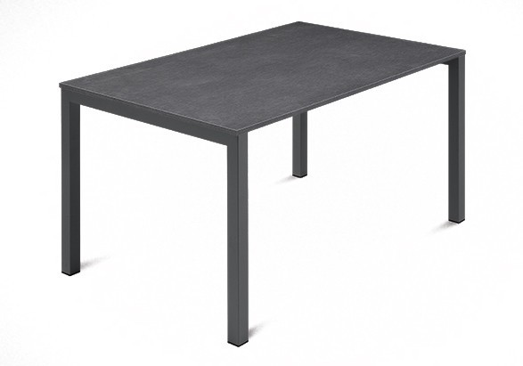 Jedálenský stôl Web - 120 cm (kostra ocel antracit/deska melamin textura sivá)