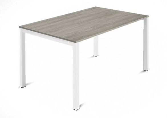 Jedálenský stôl Web - 120 cm (kostra ocel biela/deska melamin antický dub)