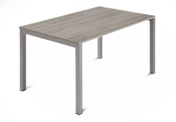 Jedálenský stôl Web - 120 cm (kostra ocel písková/deska melamin antický dub)