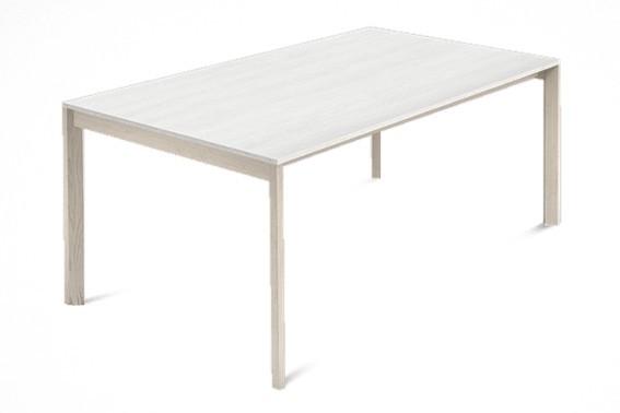 Jedálenský stôl Web - 140 cm (kostra masiv jaseň/deska malamin textura biela)