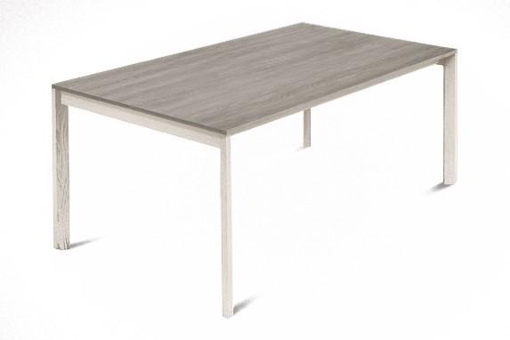 Jedálenský stôl Web - 140 cm (kostra masiv jaseň/deska melamin antický dub)