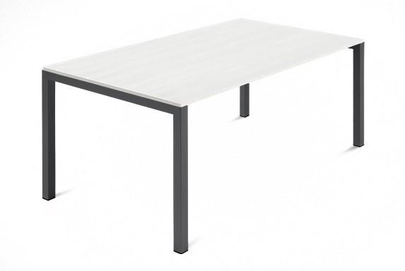 Jedálenský stôl Web - 140 cm (kostra ocel antracit/deska malamin textura biela)