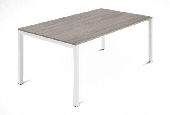 Jedálenský stôl Web - 140 cm (kostra ocel biela/deska melamin antický dub)