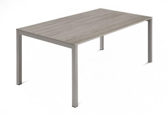 Jedálenský stôl Web - 140 cm (kostra ocel písková/deska melamin antický dub)