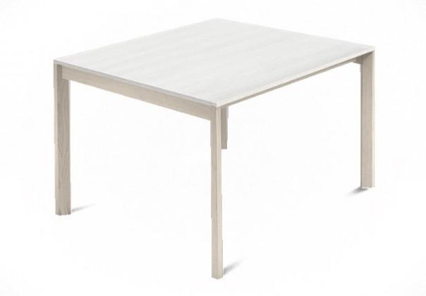 Jedálenský stôl Web - 90 cm (kostra masiv jaseň/deska malamin textura biela)