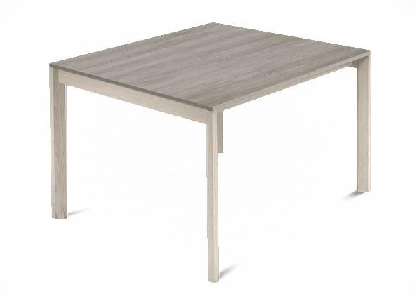 Jedálenský stôl Web - 90 cm (kostra masiv jaseň/deska melamin antický dub)