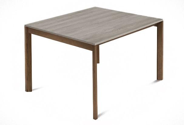 Jedálenský stôl Web - 90 cm (kostra masiv orech/deska melamin antický dub)