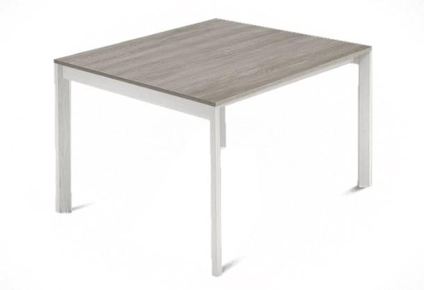 Jedálenský stôl Web - 90 cm (kostra masiv textura biela/deska melamin antický dub