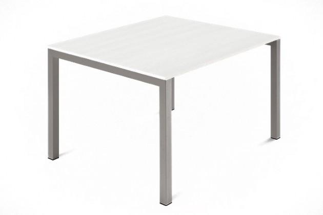 Jedálenský stôl Web - 90 cm (kostra ocel písková/deska malamin textura biela)
