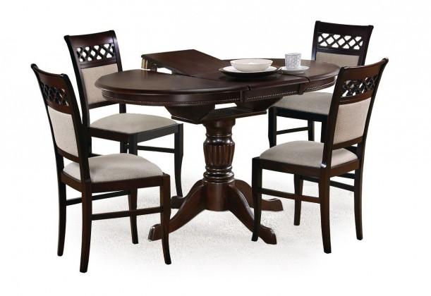 Jedálenský stôl William - Jedálenský stôl 90-124x90 cm (tmavý orech)