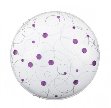 Jolly - Nástenná svietidla, E27 (fialová se vzory/chrom)