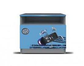 Junior mechanik - Nočný stolík (sivá/modrá)