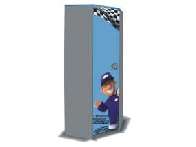 Junior mechanik - Skriňa rohová (sivá/modrá)